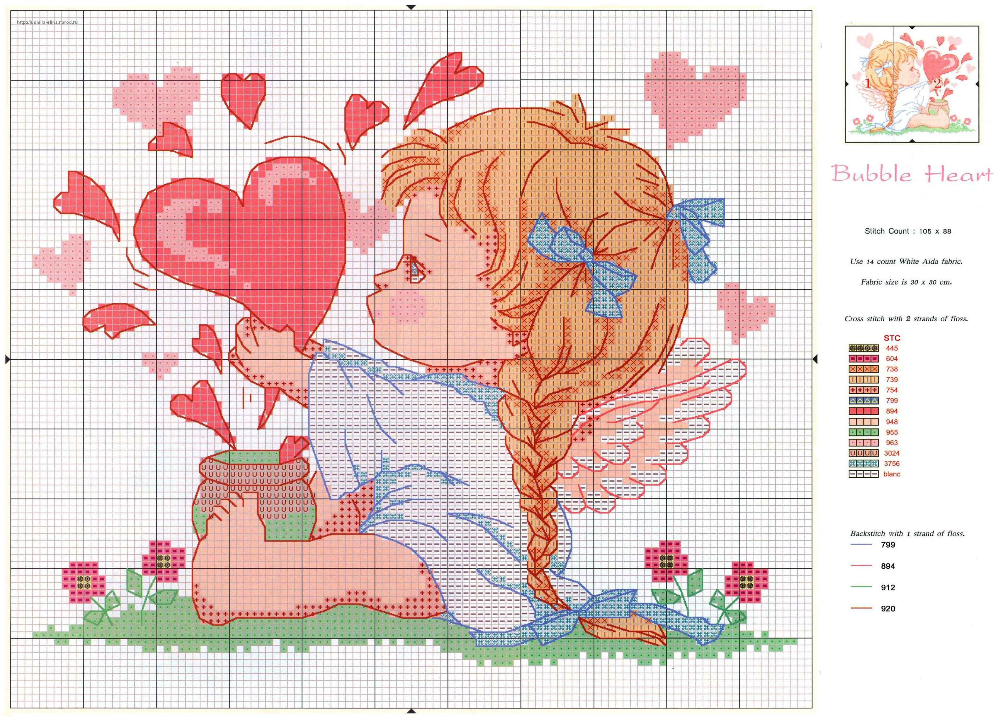 Схемы вышивок ангелочек