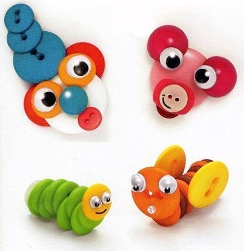 Игрушки из пуговиц для детей